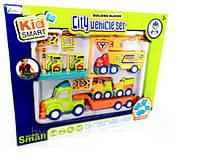 Ігровий набір з машинками будівельна техніка розбирається/збирається Kid Smart