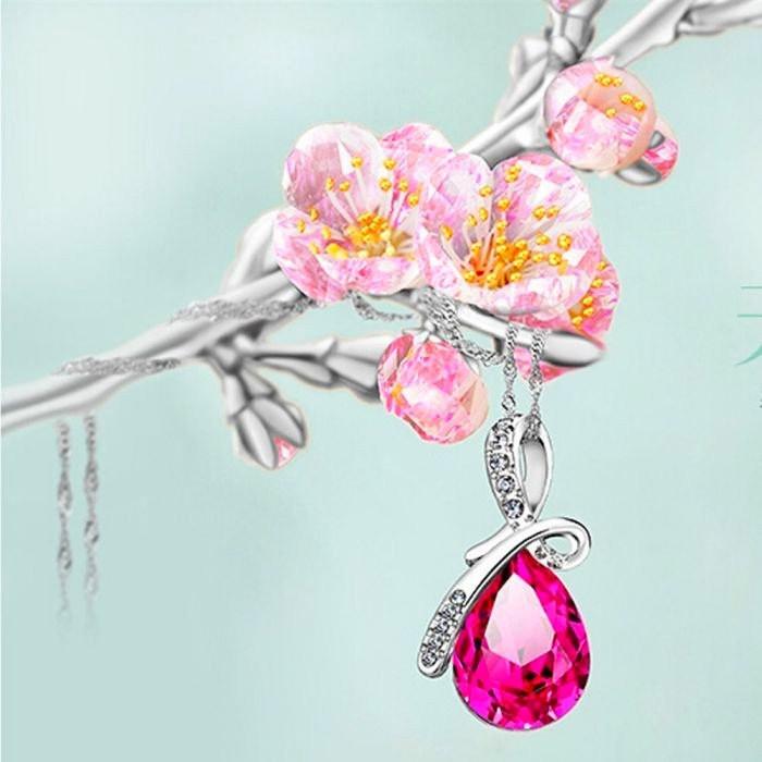 Яркий медальон кулон ожерелье подвеска QQ5 кулончик амулет оберег талисман украшени капелька капля со стразами