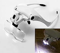 Очки со сменными линзами 1.0X 1.5X 2.0X 2.5X 3.5X и подсветкой, фото 1