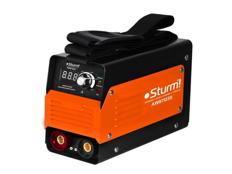 Зварювальний інвертор (235А, кнопка) Sturm AW97I235D / 3 роки гарантія