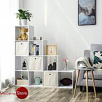 Стеллаж лесенка 10 ячеек, полка для книг и игрушек, разделитель комнаты G0040