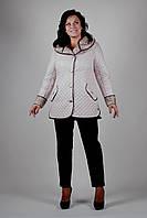 Куртка женская осенняя -бежевая - П-45