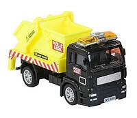 Cпецтехника Pullback City Truck металлопластиковая инерционная, желтая