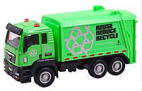 Cпецтехника Pullback City Truck металлопластиковая инерционная, зеленая