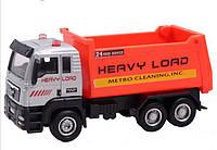 Cпецтехника Pullback City Truck металлопластиковая инерционная, оранжевая
