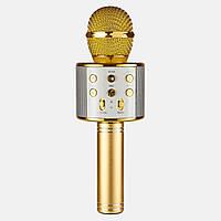 Беспроводной микрофон караоке 858 Золотой, фото 1