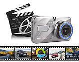 Видеорегистратор с выносной камерой заднего вида Dvr 1080 Full HD, фото 2