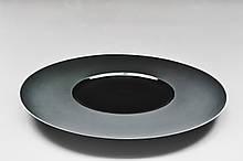 """Тарілка кругла чорна плоска (матова) 12"""" (31см)"""