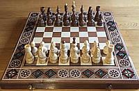 Шахматы Деревянные Резные(Набор 3 в 1 Шахматы, Шашки, Нарды).