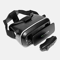 Очки виртуальной реальности VR Shinecon с пультом черные, фото 1