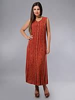 Платье - халат, бордовое, хлопок, Индия, на 46-50 размеры