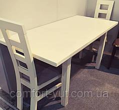 Стол Классик Люкс бежевый 120(+40+40)*80 обеденный раскладной деревянный