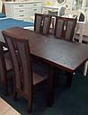 Стол Классик Люкс бежевый 120(+40+40)*80 обеденный раскладной деревянный, фото 8