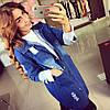Женский модный джинсовый кардиган