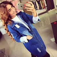 Женский модный джинсовый кардиган, фото 1