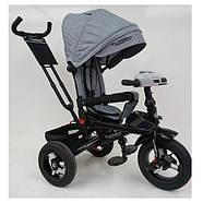 Велосипед трехколесный с ручкой детский TurboTrike М 5448 HA-19L Быстрая доставка, фото 2