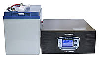 Комплект резервного питания ИБП Luxeon UPS-1500ZY + АКБ LX12-100G 100Ah для 7-12ч работы газового котла, фото 1