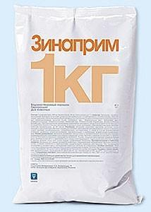 Зинаприм 1 кг порошок INVESA (Испания) ветеринарный антибактериальный препарат