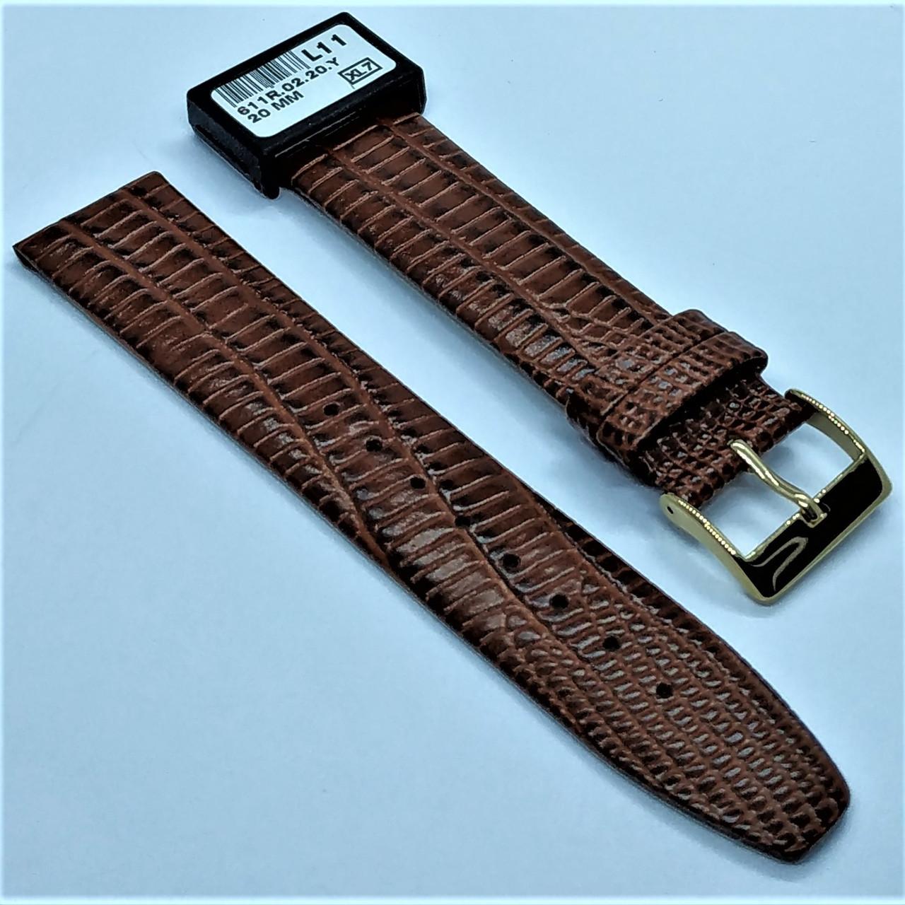 20 мм Кожаный Ремешок для часов CONDOR 611.20.02 Коричневый Ремешок на часы из Натуральной кожи