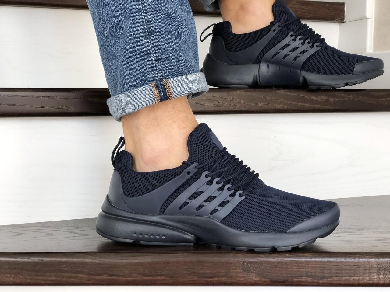 Кроссовки Nike air presto,сетка,темно синие (реплика)