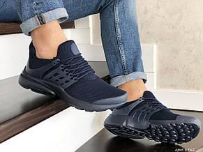 Кроссовки Nike air presto,сетка,темно синие (реплика), фото 3