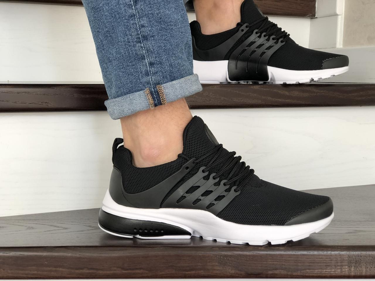 Кроссовки Nike air presto,сетка,черно белые