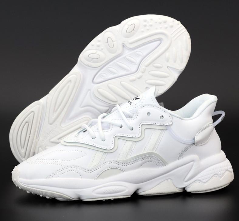 Мужские кроссовки Adidas Ozweego W White рефлективные 41-45р. Живое фото. Реплика
