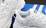 Мужские кроссовки Adidas Ozweego W White рефлективные 41-45р. Живое фото. Реплика, фото 7