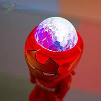 Дитячий світиться мікрофон Залізна Людина, фото 3
