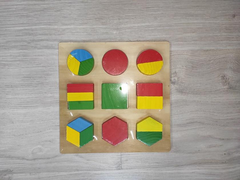 Деревянная Игрушка Рамка Геометрика арт 0716/2326  разные виды. 0716