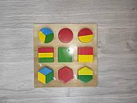 Деревянная Игрушка Рамка Геометрика арт 0716/2326  разные виды. 0716, фото 1