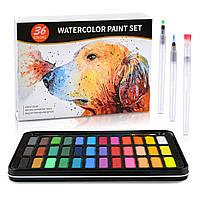 Акварельные краски для рисования Professional Paint Set 36 цветов в металлическом пенале