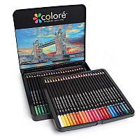 Большой набор для рисования , цветные карандаши 48 цветов