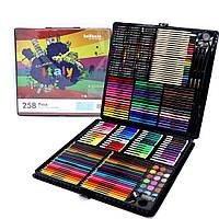 Большой художественный набор для рисования и творчества в чемоданчике  на 258 предметов (0709002)
