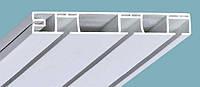 Карниз потолочный трехрядный пластиковый белый КС-3 «Plastidea»