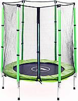 Батут Atleto 140 см с сеткой зеленый (21000402), фото 2