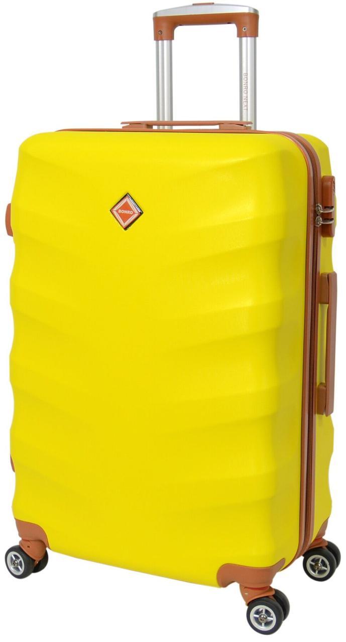 Вализа Bonro Next большая желтая (10063807)