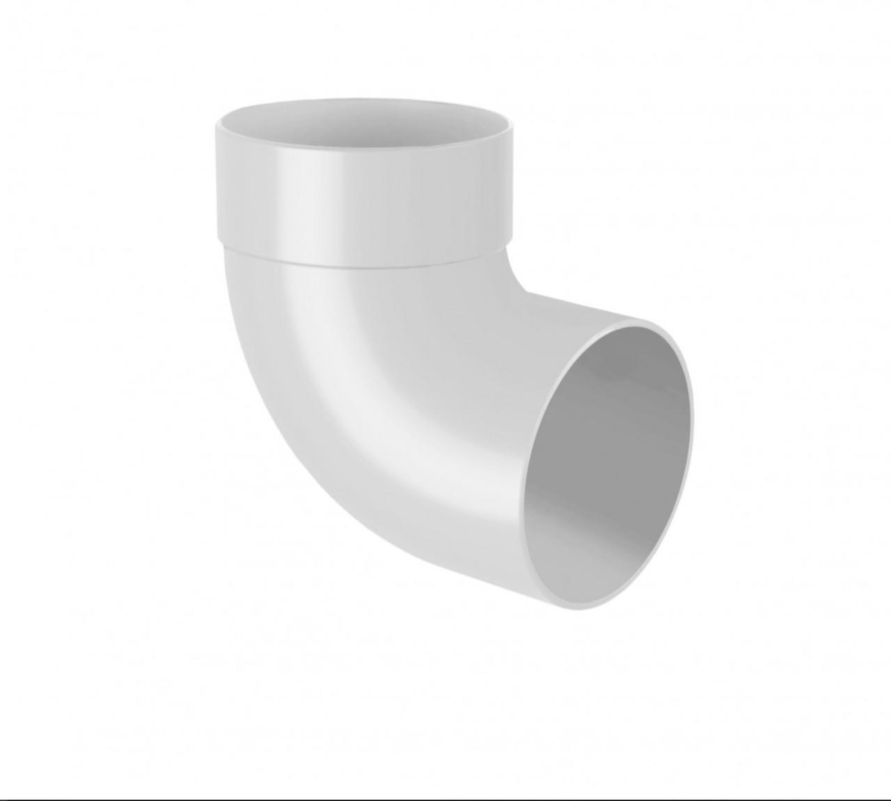 Отвод одномуфтовый белый 87° Ø100 мм 130/100 RainWay