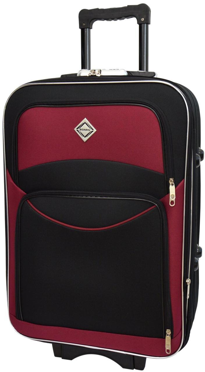 Вализа Bonro Style большая черно-вишневая (10012708)