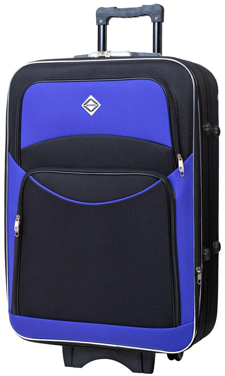 Вализа Bonro Style большая черно-фиолетовая (10012704)