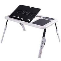 Портативный столик для ноутбука с кулерами E-Table, фото 1