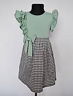 Детское платье для девочек на 4, 6, 8 и 14 лет, оливка