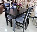 Стол Классик Люкс белый 120(+40)*75 обеденный раскладной деревянный, фото 10