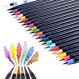 Акварельные маркеры ( маркер - кисточка) 20 цветов . Детский набор для рисования, фото 3