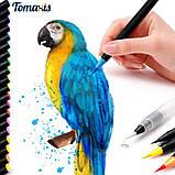 Акварельные маркеры ( маркер - кисточка) 20 цветов . Детский набор для рисования, фото 8