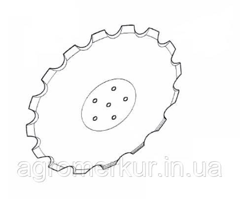 Диск ромашка AC353951 d=18 Kverneland, фото 2