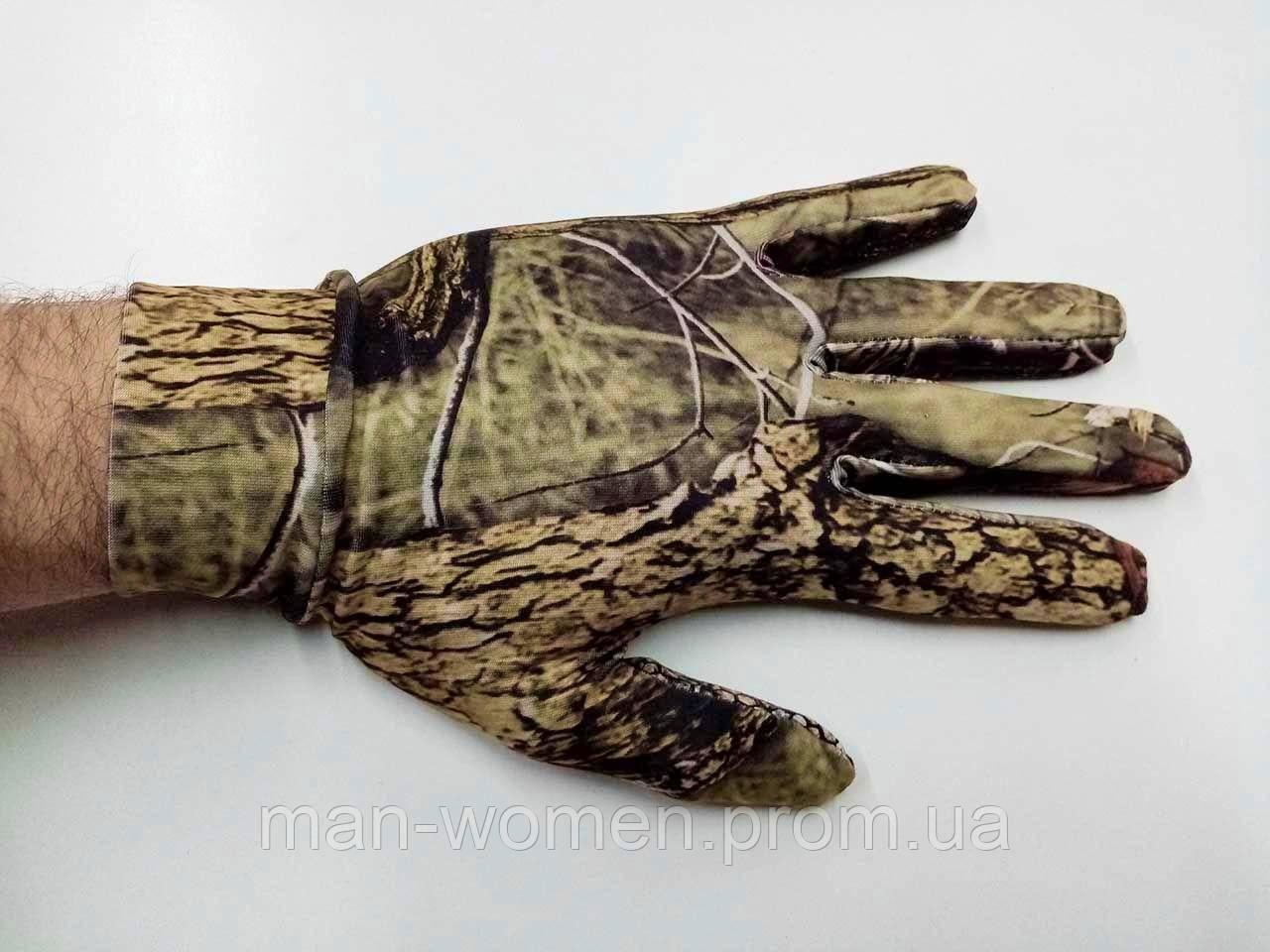 Перчатки лес 3D тонкие, антискользящие