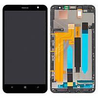 Дисплей + touchscreen (сенсор) для Nokia Lumia 1320, c рамкой, черный, оригинал