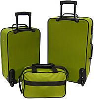Набор чемоданов Bonro Best 2 шт и сумка зеленый (10080101), фото 2