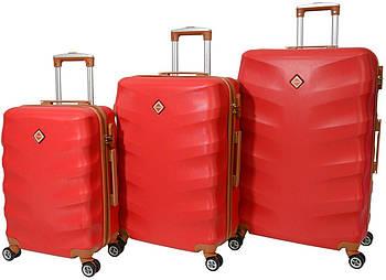 Набор чемоданов Bonro Next 3 штуки бордовый (10642304)